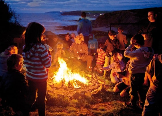 Evening spent around our cliff top fire
