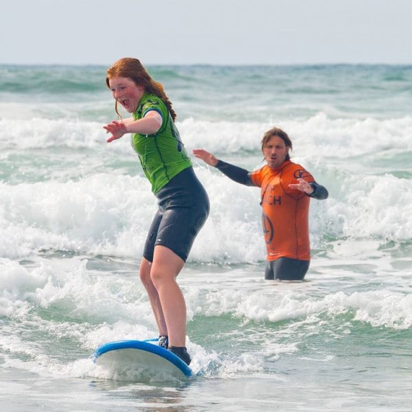 Surfing lessons on your school trip in Cornwall