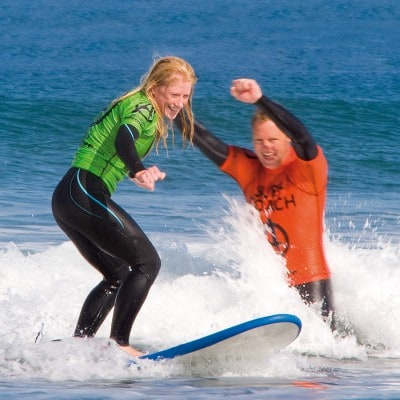 Beginners Surfing lessons Bude