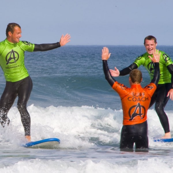 Stag group at Outdoor Adventure surf school cornwall