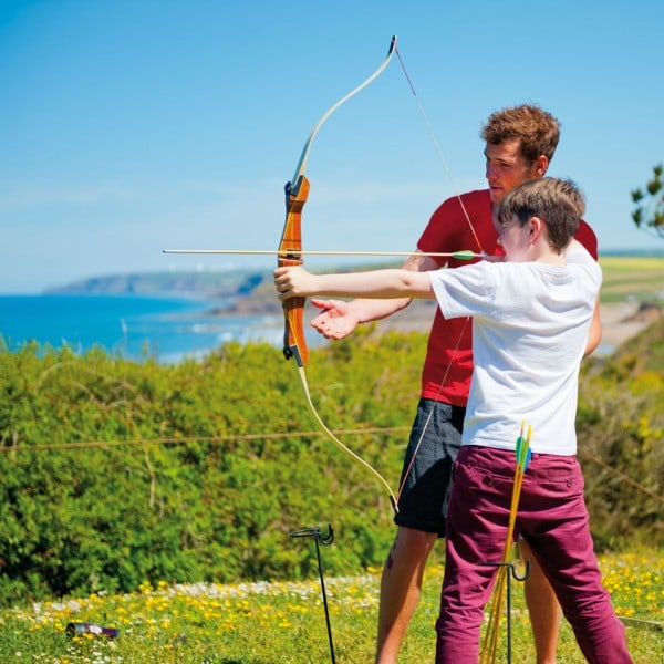 Archery session on a school residential week