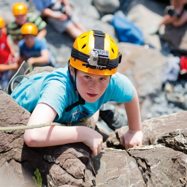 Year 5 &6 climbing at our residential centre in Bude