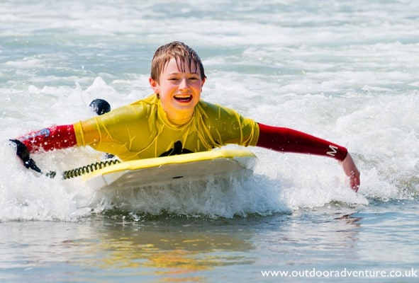 Watersports holiday for families