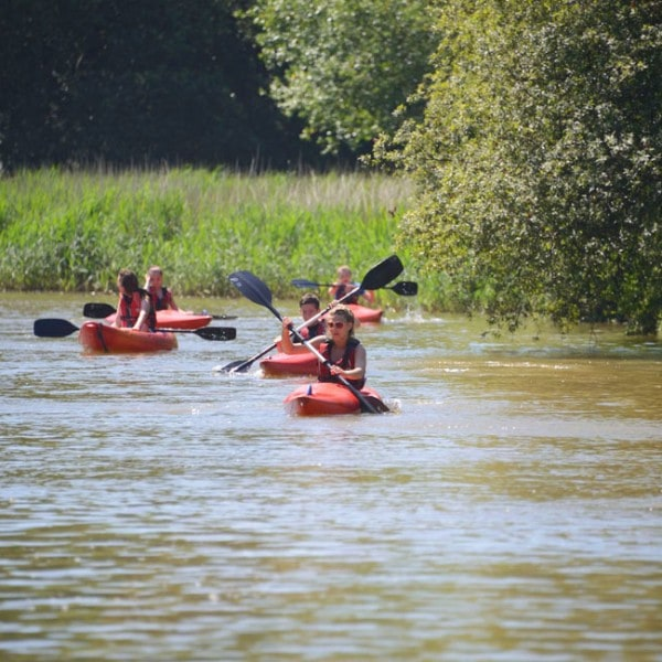 School group kayak journey