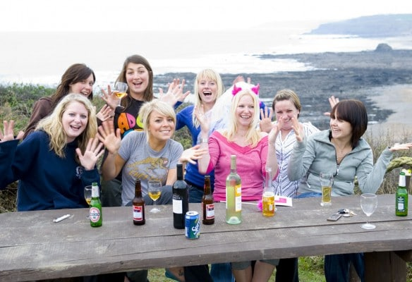 Hen party on activity weekend Cornwall