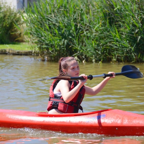 School activity trip including kayaking on Bude canal