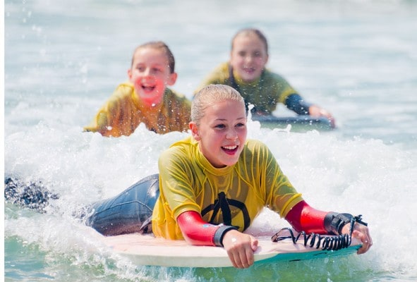 Summer holiday fun surfing