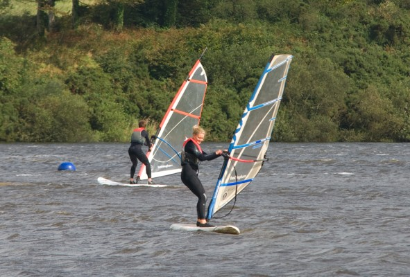 Girl Windsurfing on a activity holiday