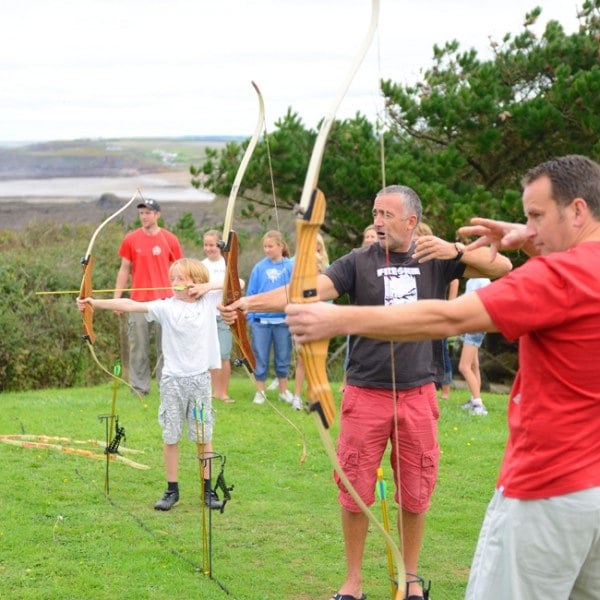 Holiday archery session