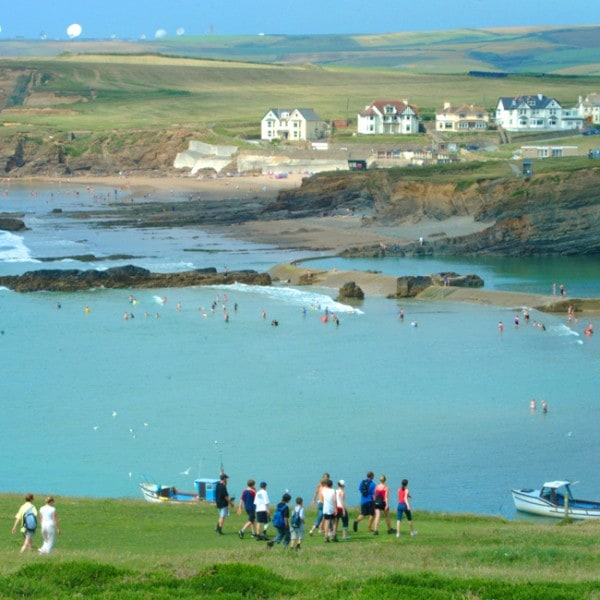 Coastal walk towards Bude Sea Pool