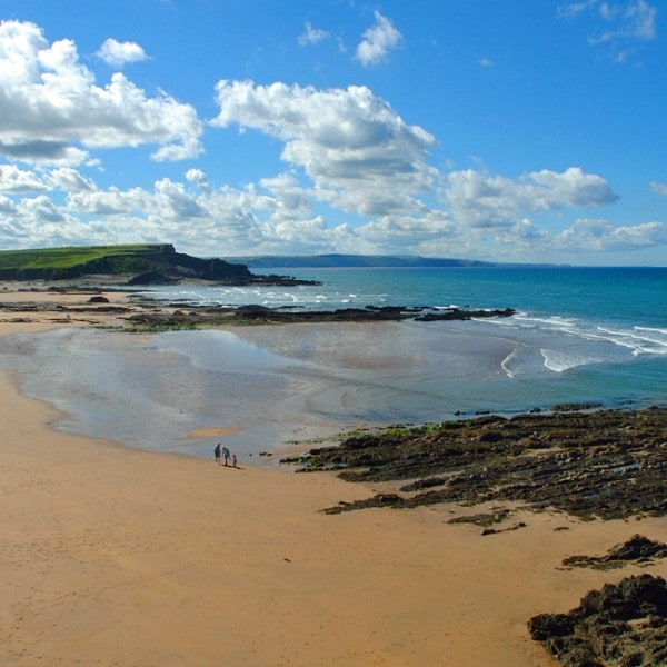 Sandy beaches around Bude