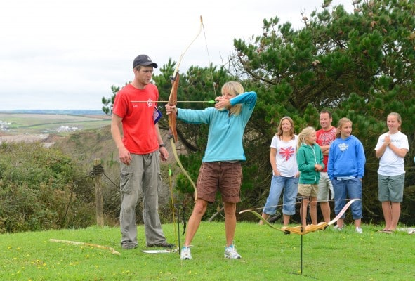 Summer holiday archery contest