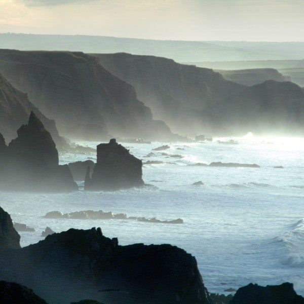 Sea stacks and headlands in North Cornwall