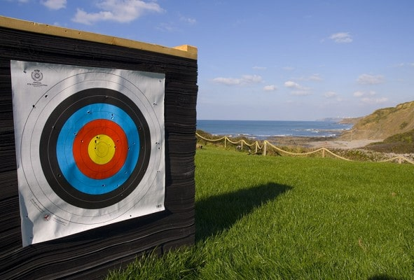 Archery Target at adventure centre