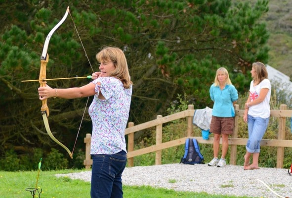 Hen weekend group on archery session
