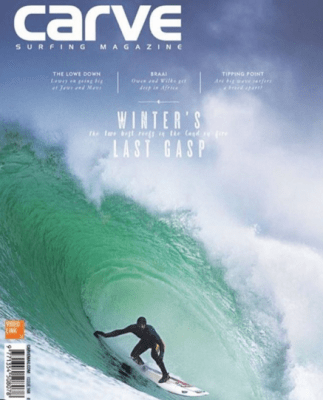Ben Skinner on the cover of Carve Magazine