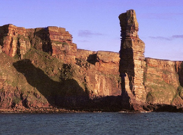 The famous Old Man of Hoy sea stack in Orkney, Scotland