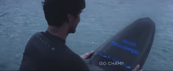 Gabriel Medina enjoying an outdoor adventure on the Samsung Galaxy Smart Surfboard