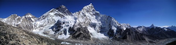 Mount Everest, where Cory Richards and Adrian Ballinger documented their climb on social media