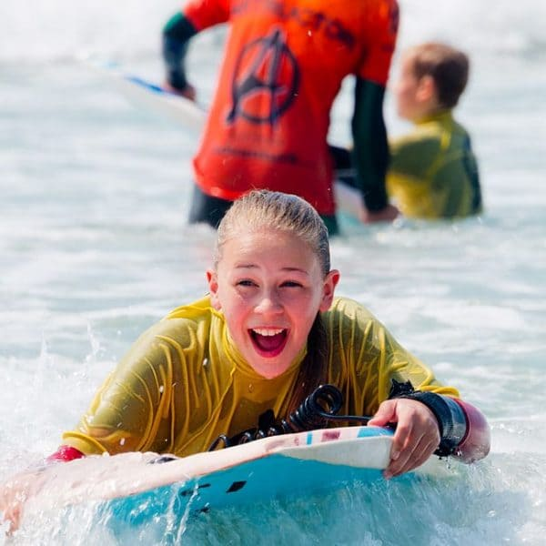 bodyboarding on our school residential trips