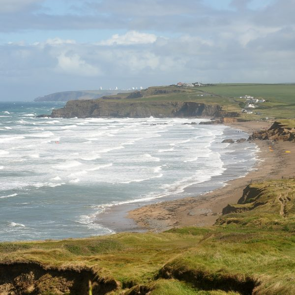 Widemouth Bay, found near our centre for residential school trips