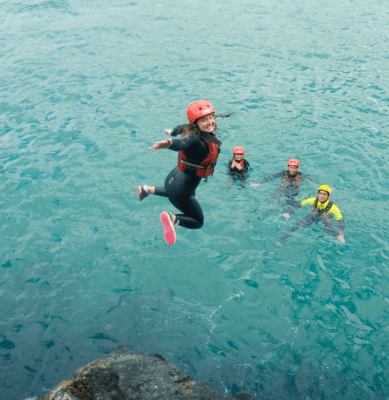 Coasteering on our school residential trips