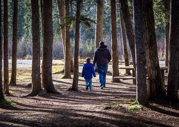 A father and son on one of our family activity holidays
