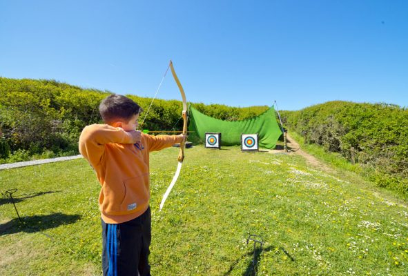 archery on our residential school trips