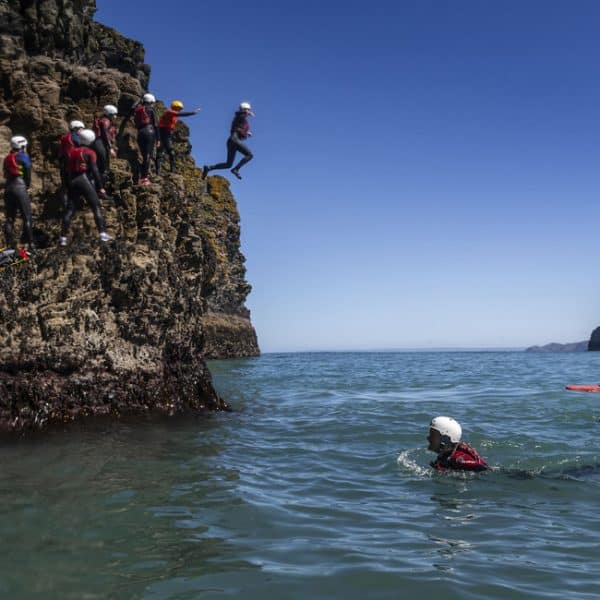 Experiencing cliff jumping in CoOrnwall