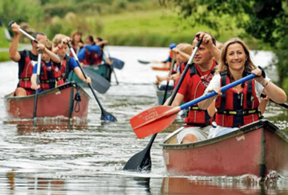 Canoeing on a Family Adventure Holiday in the UK based in Bude Cornwall