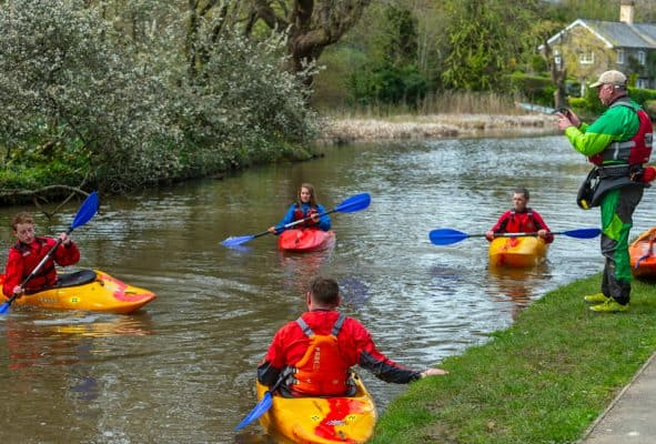 outdoor instructor course on Bude canal