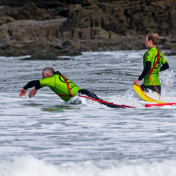 outdoor instructor training in surf lifeguard skills