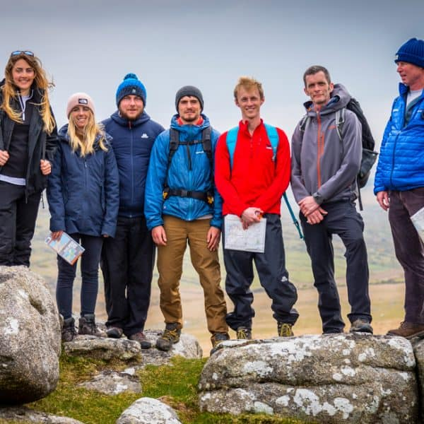 outdoor instructor course group on Bodmin moor