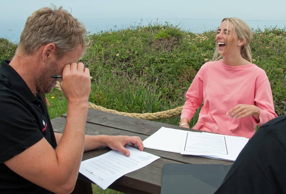 outdoor instructor training in interviewing techniques