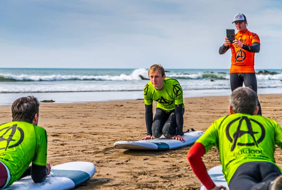 outdoor instructor training in the sport of surfing