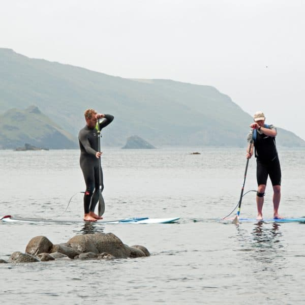 outdoor instructor course SUP coaching session on ocean